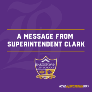 A Message from Superintendent Clark Graphic